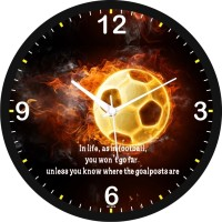 Regent In Life As In Football Analog Wall Clock (Shiny Black)