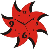 Zeeshaan Starry Effect Analog Wall Clock Red, Black