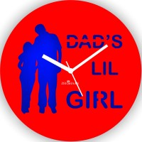 Zeeshaan Daddy'S Lil Girl Analog Wall Clock Red, Blue