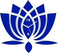 Zeeshaan The Lotus Blue Analog Wall Clock Blue