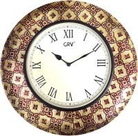 GRV Analog 40 Cm Dia Wall Clock Multicolour, With Glass