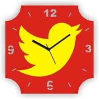 Zeeshaan Flying Pigeon Analog Wall Clock Red, Yellow