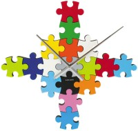 Karlsson Diy Puzzle Analog Wall Clock Multicolor