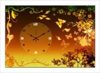 Design O Vista Single Panel - DV1-M-R4200 Analog Wall Clock (Multicolor)