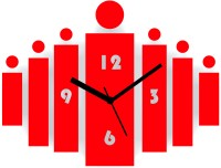 Zeeshaan Bars S Red Analog Wall Clock Red