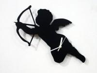 Blacksmith Greek God Of Love Analog Wall Clock (Black)