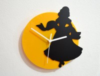 Blacksmith Princess Fairytale Analog Wall Clock (Black, Yellow)