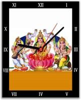 Lovely Collection Saraswati, Lakshmi And Ganesha Religious Analog Wall Clock (Multicolor)