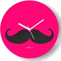 Zeeshaan Analog Wall Clock Pink, Black, With Glass