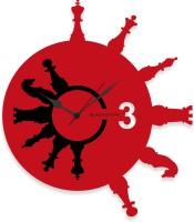 Blacksmith Black & Red Chess Analog Wall Clock Red