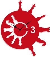 Blacksmith Red & White Chess Analog Wall Clock Red