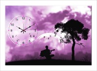 Design O Vista Single Panel - DV1-L-R4187 Analog Wall Clock (Multicolor)