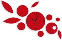 Blacksmith Red Designer Petals Analog Wall Clock Red