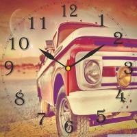 Go Hooked Car Design Printed Analog Wall Clock Multicolor