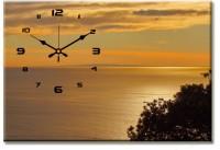 Design O Vista Single Panel - DV1-S-R4018 Analog Wall Clock (Multicolor)
