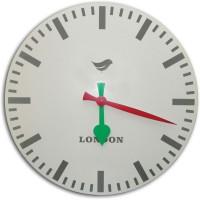 Kairos Modern Station London Analog 50.8 Cm Dia Wall Clock White