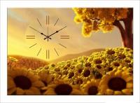 Design O Vista Single Panel - DV1-L-R4141 Analog Wall Clock (Multicolor)