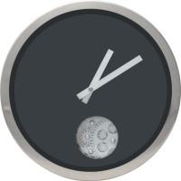 Kairos Analog 39.37 Cm Dia Wall Clock Black, Without Glass