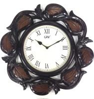 GRV Analog 40 Cm Dia Wall Clock Brown, With Glass