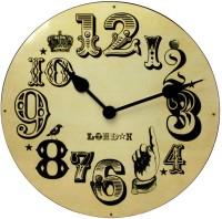 Kairos Cream London Vintage Number Analog 50.8 Cm Dia Wall Clock Cream