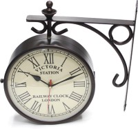 Artondoor 12 Inch Station Double Side Analog Wall Clock - Black