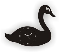 Zeeshaan Swan Analog Wall Clock Black