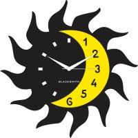 Blacksmith Sun Moon Black Analog Wall Clock Black