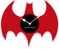 Blacksmith Black & Red Bat Analog Wall Clock Red