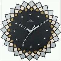 Deesha Analog Wall Clock Black, Yellow, Without Glass