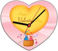 Lovely Collection Valentines Love Ballon Analog Wall Clock Pink