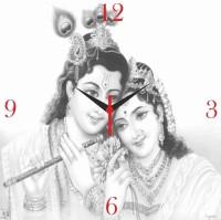 Go Hooked Radha Krishna Printed Analog Wall Clock Multicolor