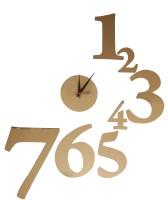 Cosmosgalaxy Designers Analog Wall Clock - Golden