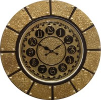 GRV 1802 Analog Wall Clock - Brass, Black