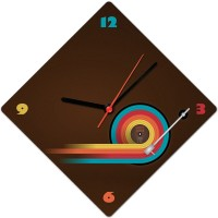 Lovely Collection Grovy Record Music Analog Wall Clock Multicolor