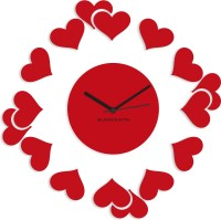 Blacksmith Red Multi Hearts Analog Wall Clock Red