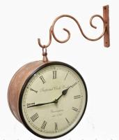 Prachin Street Clock 10 Inch Analog Wall Clock - Copper