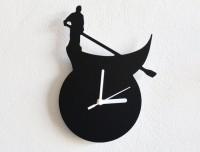Blacksmith Condola Venice Italy Analog Wall Clock Black