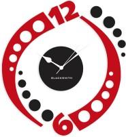 Blacksmith Black & Red Classic Wall Analog Wall Clock Red