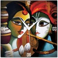 Amore Radhe Krishna 113590 Analog Wall Clock (Multicolor)