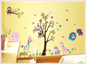 Oren Empower 2pc/set (Double Sheet) Extra Large jungle wall sticker