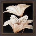 WENS White Lily Wall Painting - Off White, Brown