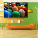 999Store Multiple Frames Printed Colouful Eggs Like Modern Wall Art Painting - 5 Frames (148 X 76 Cms) - Multicolor