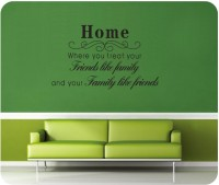 Oren Empower Transparent Quote Wall Sticker (75 Cm X Cm 125, Black)