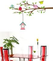 Posterindya Love Birds & Tree Wall Stickers 10 (12 Inch X Inch 48, Multicolor)