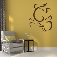 Indovibes Wall Decal Or Sticker (60 Cm X Cm 50, Brown)