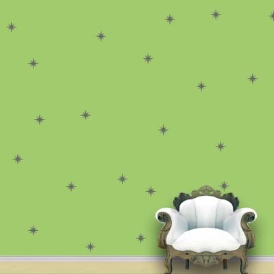 WallDesign Shining Star Wall Pattern Grey Stickers Set of 60