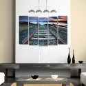 999Store Multiple Frames Printed Train Track Like Modern Wall Art Painting - 5 Frames (148 X 76 Cms) - Multicolor