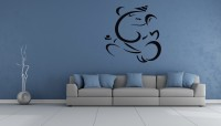 Indovibes Wall Decal Or Sticker (60 Cm X Cm 50, Black)