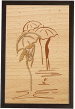 Bion Creations Wall Decorations Bion Creations Wooden Carved Painting Artistic Representation Of Rain