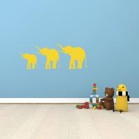 Indovibes Cute Elephant Family (45 CM X 120 CM) (45 Cm X Cm 120, Yellow)